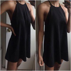 ZARA SWING DRESS BLACK TRAFALUC